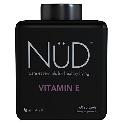 All Natural Vitamin E 400 IU - Powerful Antioxidant For Protection Against Free Radicals - Take For Healthy Skin, Eyes, And Heart - 60 Soft gel Capsules