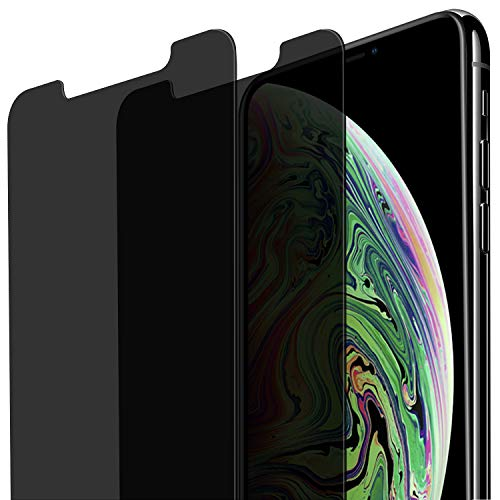 [2-Pack] iPhone Xs Max Privacy Screen Protector, CTREEY Anti-Spying, Anti-Scratch, Case Friendly Tempered Glass Screen Film Guard for Apple iPhone Xs Max 6.5