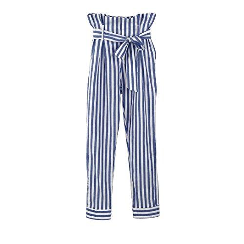 LuckyGirls Pantalones Mujer Verano Rayas Cintura Alta Casual Moda Correa de  Leggings  Amazon.es  Deportes y aire libre 8f10f363cc6b