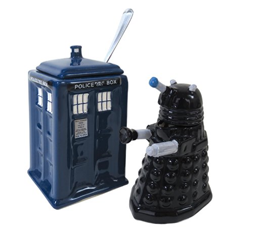 Doctor Who Dalek & TARDIS Creamer & Sugar Bowl - Licensed BBC