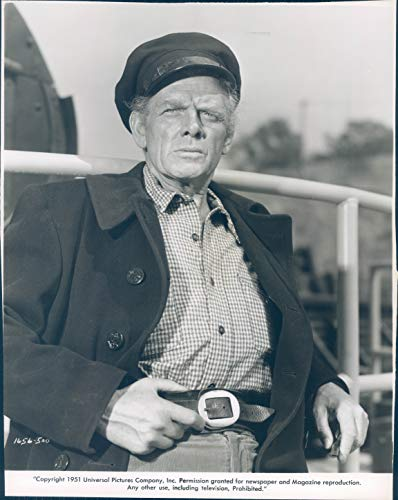 Vintage Photos 1951 Press Photo Actor Charles Bickford Celebrity Nominee Academy Award 8x10