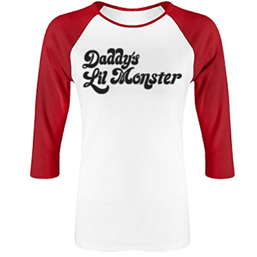 [Harley Quinn Costume: Junior Fit Bella 3/4 Sleeve Raglan T-Shirt] (Fandom Halloween Costumes)