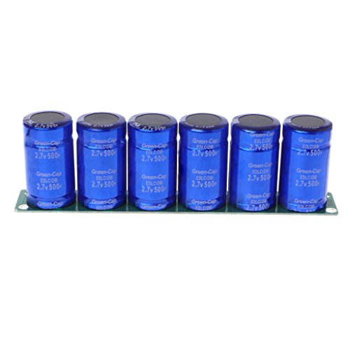 Charge 1 Farad Capacitor - Sarora - Farad Capacitor 2.7V 500F 6 Pcs/1 Set Super Capacitance with Protection Board