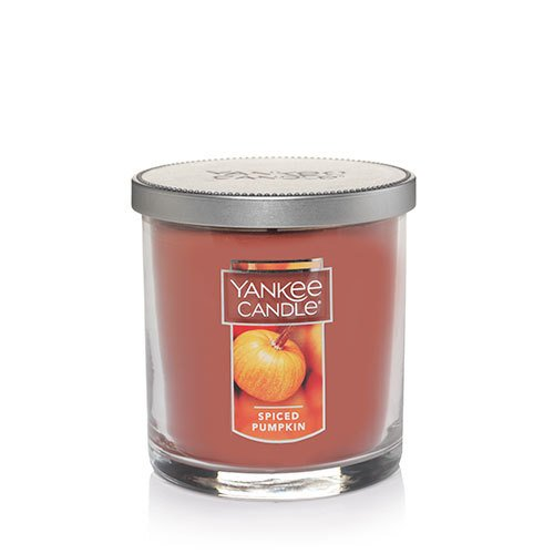 Yankee Candle Spiced Pumpkin Small Single Wick Tumbler Candle, Food & Spice Scent (Yankee Pumpkin Spiced Candle)