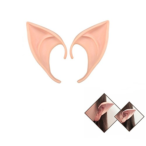 Elf Ears Fairy Pixie Cosplay Vampire Soft Pointed Ears for Anime Party Halloween Costume 1 Pair 4 inch A-T008B (Most Tasteless Halloween Costumes)