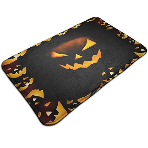 Halloween Calabazas Comfortable Indoor/Outdoor Entrance Mat Doormat Non-Skid Backing Bedroom Floor Carpet Bathroom Kitchen Rug Soft Yoga Pet Pad Home Decor for $<!--$9.99-->