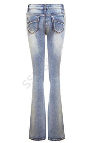 Boot Azul Stonewash Pantalones Para Mujer Vaqueros Cut Ss7 xgRwqEY0
