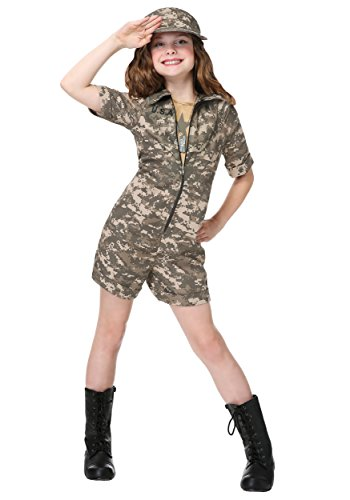 Girls Military Officer Costume -