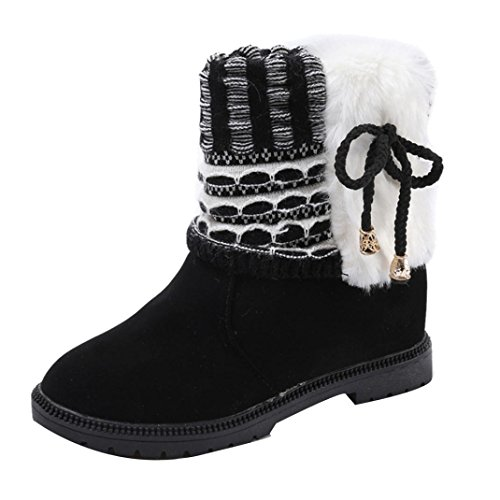 Creazy Women's Boots Winter Boots Warm Ankle Boots Warm Winter Shoes (Black, 40) (Women Uggs For Clearance)