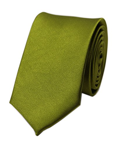(Men's Army Green Woven Silk Tie Daily Dress Necktie for Wedding Party Fancy Gift)