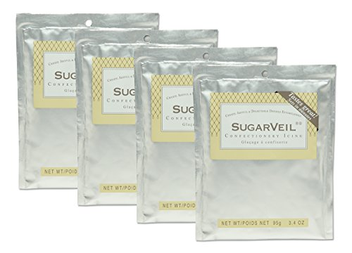 SugarVeil 4-pack of 3.4 oz SugarVeil Confectionery Icing