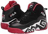 Fila Men's MB Sneaker, Black/White Red, 10