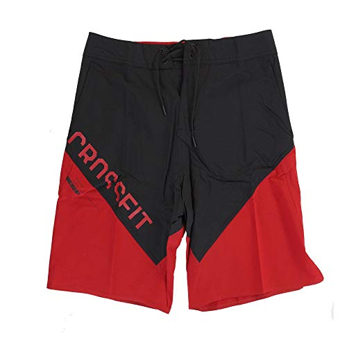 Reebok Men's Crossfit Cordura ii Training (Red/Black) Shorts (32)