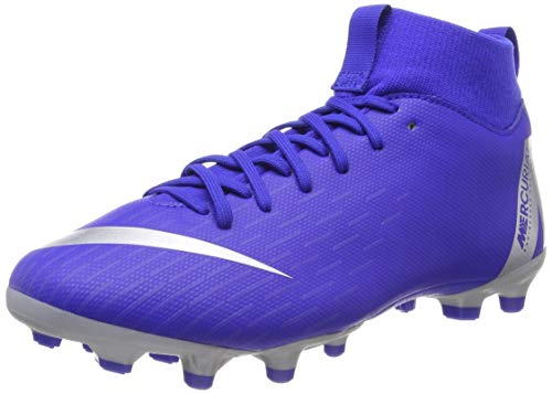 9e947374b Nike JR Mercurial Superfly 6 Academy GS MG Soccer Cleat (Racer Blue) (2.5