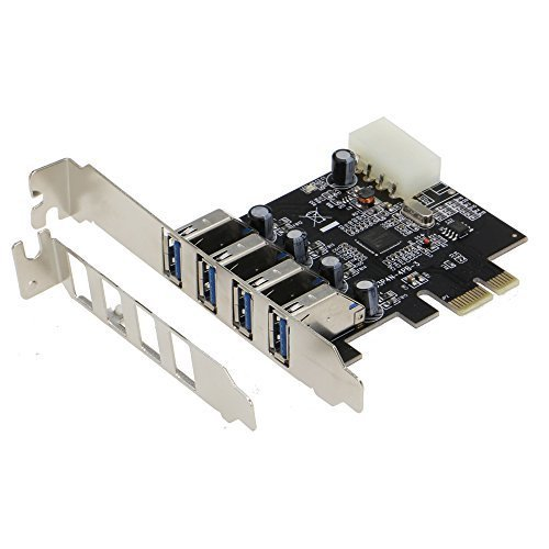 Sedna - Pci Express 4 Port ( 4e ) Usb 3.0 Adapter - With Low