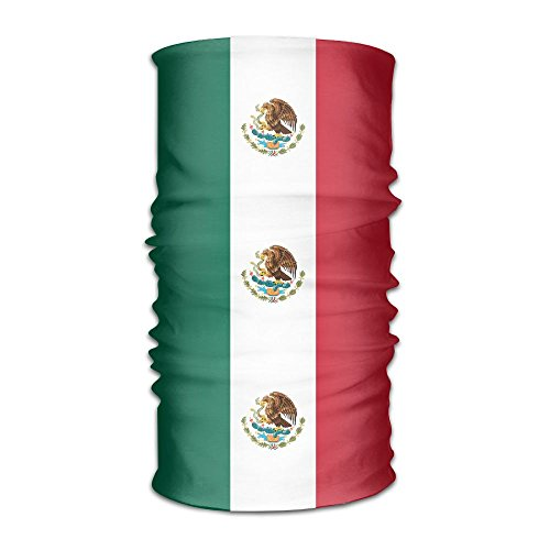 Mexico Flag Headwear Bandanas Headscarf Helmet Liner Head Wrap Scarf by WOOD-RAIN