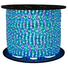 Brilliant RGB Color Changing 120 Volt LED Rope Light - 148 Feet by Brilliant