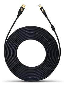 Oehlbach - Cable USB 2.0 (conector A a conector B), color negro
