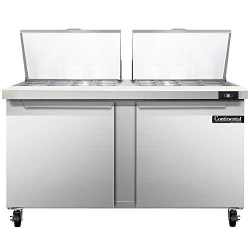 Continental Refrigerator SW60-24M Mighty Top Sandwich Unit, 60
