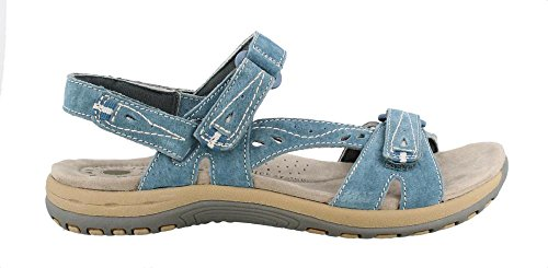 EARTH ORIGINS Womens Open Toe Casual Flat Sandals