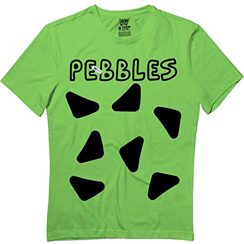 Pebbles-Costume Halloween Funny Family Matching Youth & Adult Tshirt Lime]()