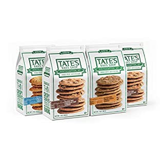Tate's Bake Shop Thin & Crispy Cookies, Gluten Free Variety Pack, 7 Oz, 4Count