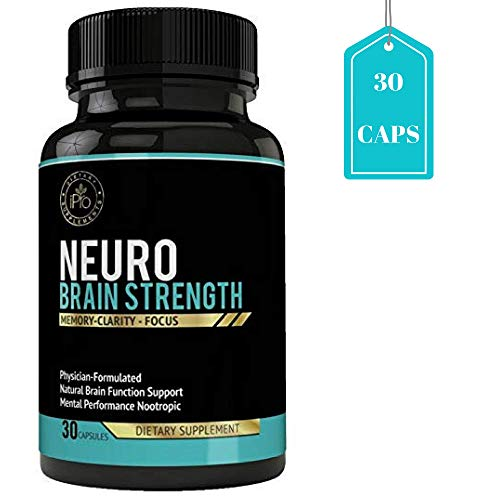(iPro Organic Supplements 30 Capsules Neuro Brain Booster Nootropic Pills for Focus, Concentration, Performance, Energy, Memory, Clarity Enhancer, Boost Healthy Cognitive Functions Natural Ingredients)