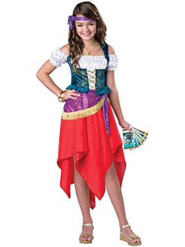 Tarot Card Gypsy Costumes (InCharacter Costumes Mystical Gypsy Costume, One Color, Size 6)