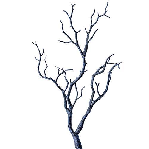 Yamalans - Ramas Artificiales de plástico secas para árbol de Navidad, 35 cm, Estilo Abstracto, Azul, 1