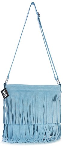 Powder Size Shoulder Orange Large Bag Tassle Suede Fringe ASHLEY LIATALIA Womens Leather p8qv66