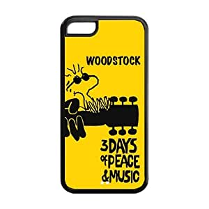 Fashion Woodstock Poster Personalized iPhone 5C Rubber Silicone Case Cover