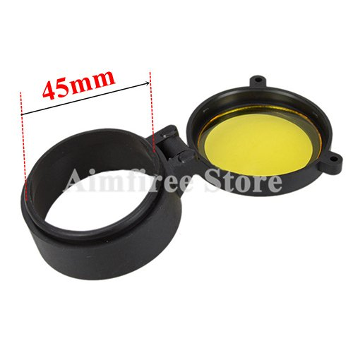 Aimfiree Hunting Rifle Scope Caliber Quick Flip Spring up Open Lens Cover Dustproof Objective Cap (45mm)