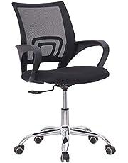 Mahmayi Sleekline 6901 Low Back Mesh Office Chair Black Without Rocking Function (Black), 6901_Black-Mesh_Chair