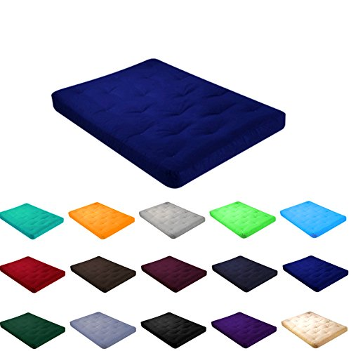 """4"""" All Cotton Futon Mattress With Cover (Twin(75x39x4), R..."""