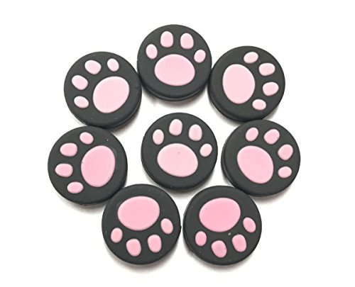 VAKABOX Cat Paw Silicone Thumbstick Joystick Caps Cover for Nintendo Switch NX NS Joy-Con Controller Joystick - 8PCS Pink