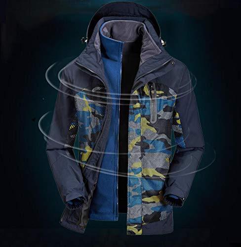 Metro De Tamaño color Uno En Hombre Azul Tres Chaqueta Moda Impermeable Camuflaje Amarillo Para Zjexjj 5UBqOAW