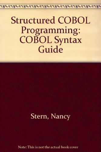 Download Structured COBOL Programming: COBOL Syntax Guide download