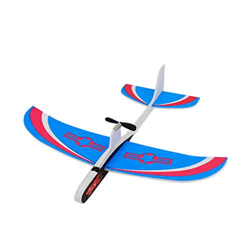 Mitoot Super Capacitor Electric Airplane Hand Throwing Aircraft Free-flying Fix Wing Foam Glider Little Stars DIY Plane Model Educational Toy for Kids (Electric Airplane Glider)