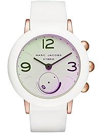 Women's Riley Aluminum and Rubber Hybrid Smartwatch, Color: Rose Gold-Tone, White (Model: MJT1000)
