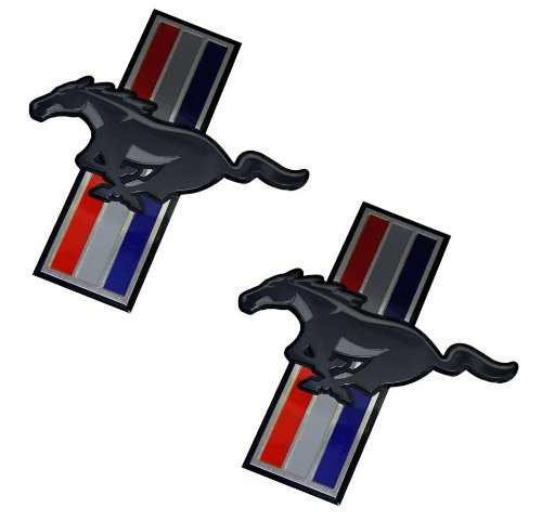 se Mustang Medallion Aluminum Emblem Badge Nameplate Decal Logo Rare (pair/set of 2) for Ford ()