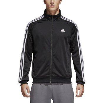 f7c146354fc34 adidas Men's Big & Tall Essentials 3-Stripes Tricot Track Jacket  Black/White XXXX-Large Tall