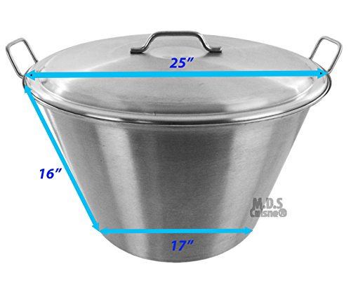 Amazon.com : Cazo Lid and Steamer Stainless Steel Caso Heavy Duty Carnitas Vaporera New Pot : Garden & Outdoor
