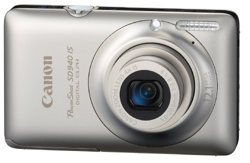 Canon PowerShot SD940IS 12 1MP Digital Camera with 4x Wide Angle Optical Image Stabilized Zoom and 2 7-inch LCD (Silver) (OLD MODEL)