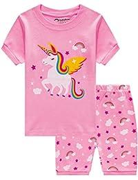 a14181ea0 Little Girls Horse Pajamas Set Children Christmas PJs 100% Cotton Sleepwear  Size 2 to 8