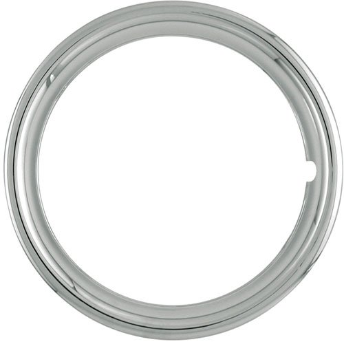 Set of 4 Chrome Plated ABS Plastic 13'' Universal 1.75 inch Beauty Trim Rings 13P by IWC