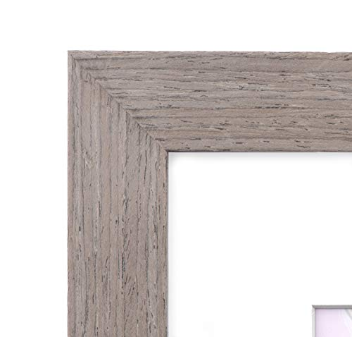 11x14 Picture Frame Walnut Wood - Matted to 8x10, Frames by EcoHome by Eco-home (Image #2)