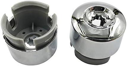 NO LOGO 2019-10 Tapas cromadas para Tuercas de llanta de VW Touareg 2004-2010 2011 2012 2013 2014