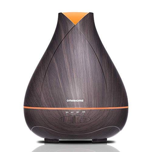 (530ml Scentsy Air Diffusers for Essential Oil, Large 18hrs Running Oil Diffuser for Room, Office Ultrasonic Humidifier Diffuser with Mist Modes & Changing Colors for Spa/Yoga/Sleeping, Wood Grain)