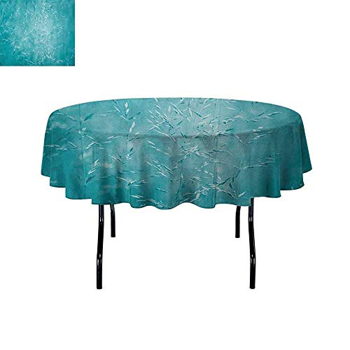 Douglas Hill Turquoise Easy Care Leakproof and Durable Tablecloth Blur Meadow Grass Plant Herb in Countryside Rural Spiritual Mystical Seasonal Picture Outdoor Picnic D51 Inch Blue (Best Time To Plant Herbs In Texas)