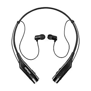 mpow bluetooth headphones v4 1 vibrating call alert wireless neck. Black Bedroom Furniture Sets. Home Design Ideas